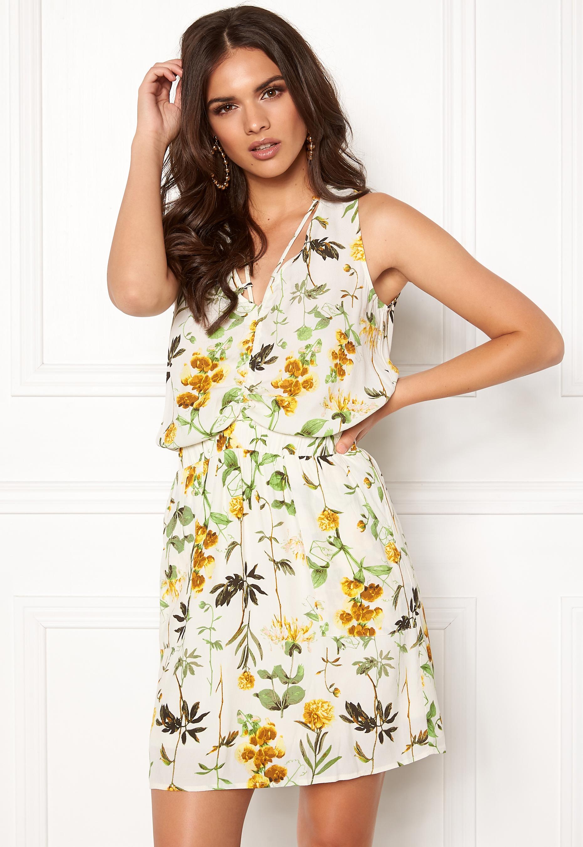 OBJECT Floressa S L Dress Gardenia - Bubbleroom d944bbe95d025