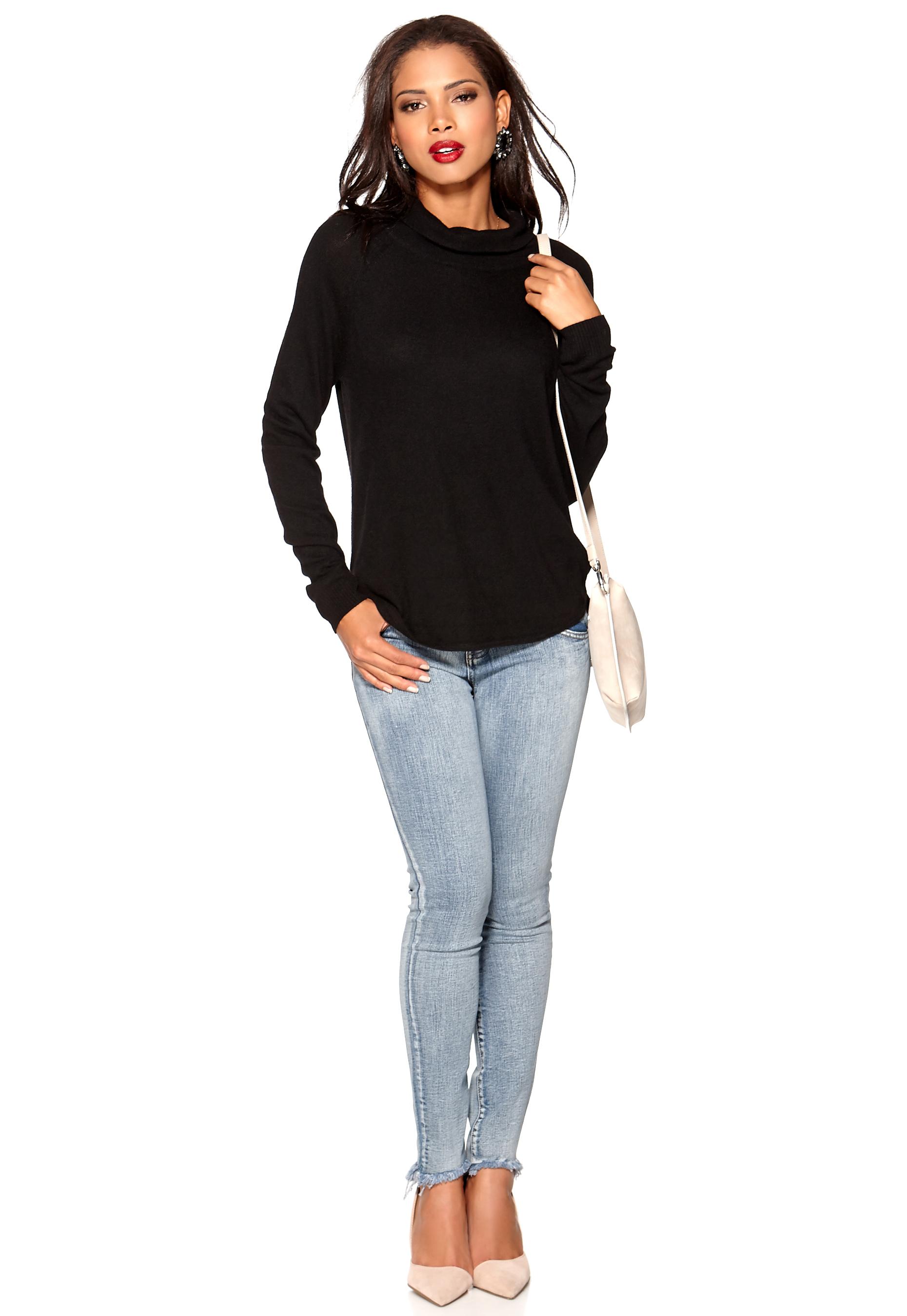object ilse knit pullover black bubbleroom. Black Bedroom Furniture Sets. Home Design Ideas