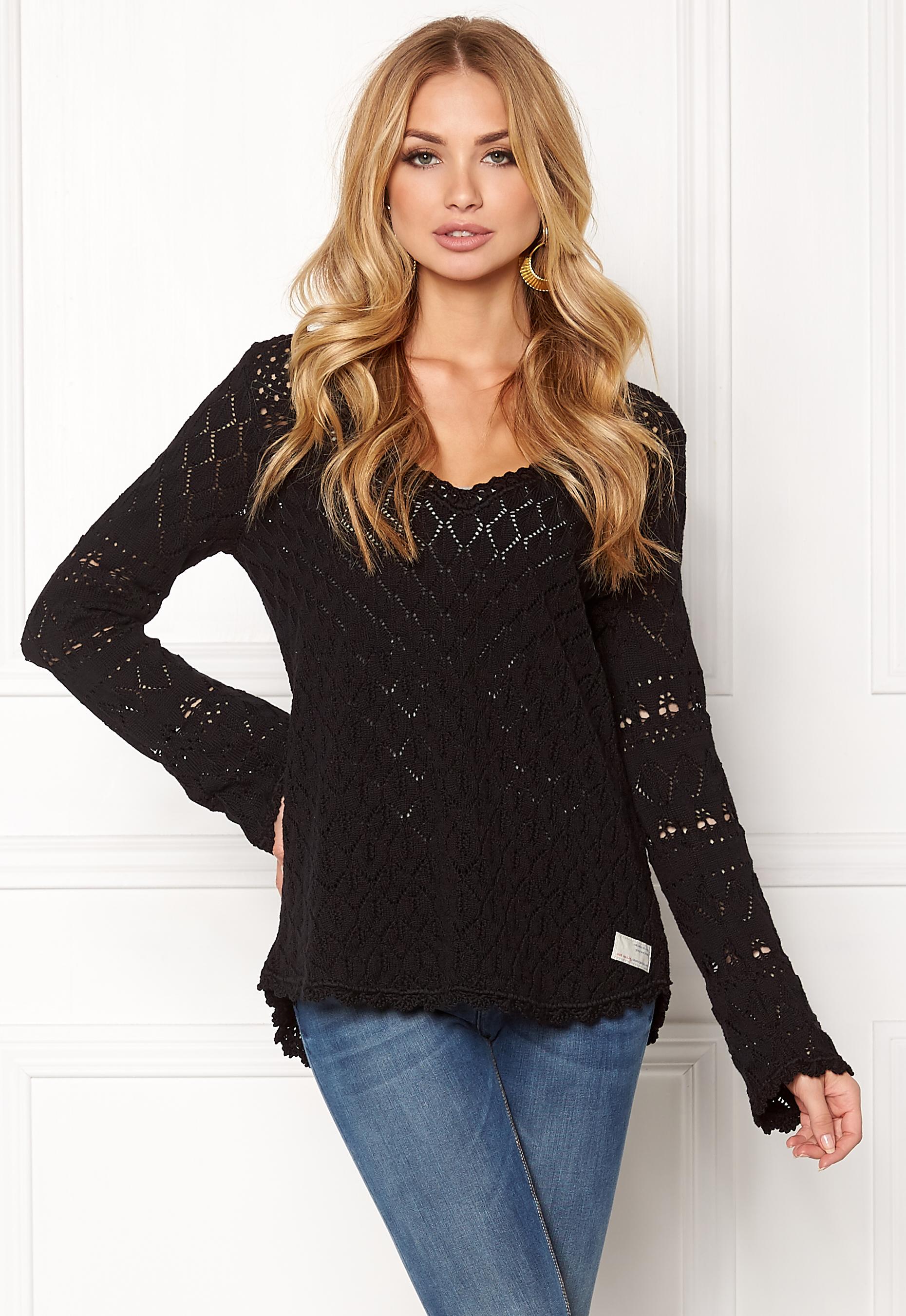 Odd Molly Love Affair Sweater Almost Black Bubbleroom
