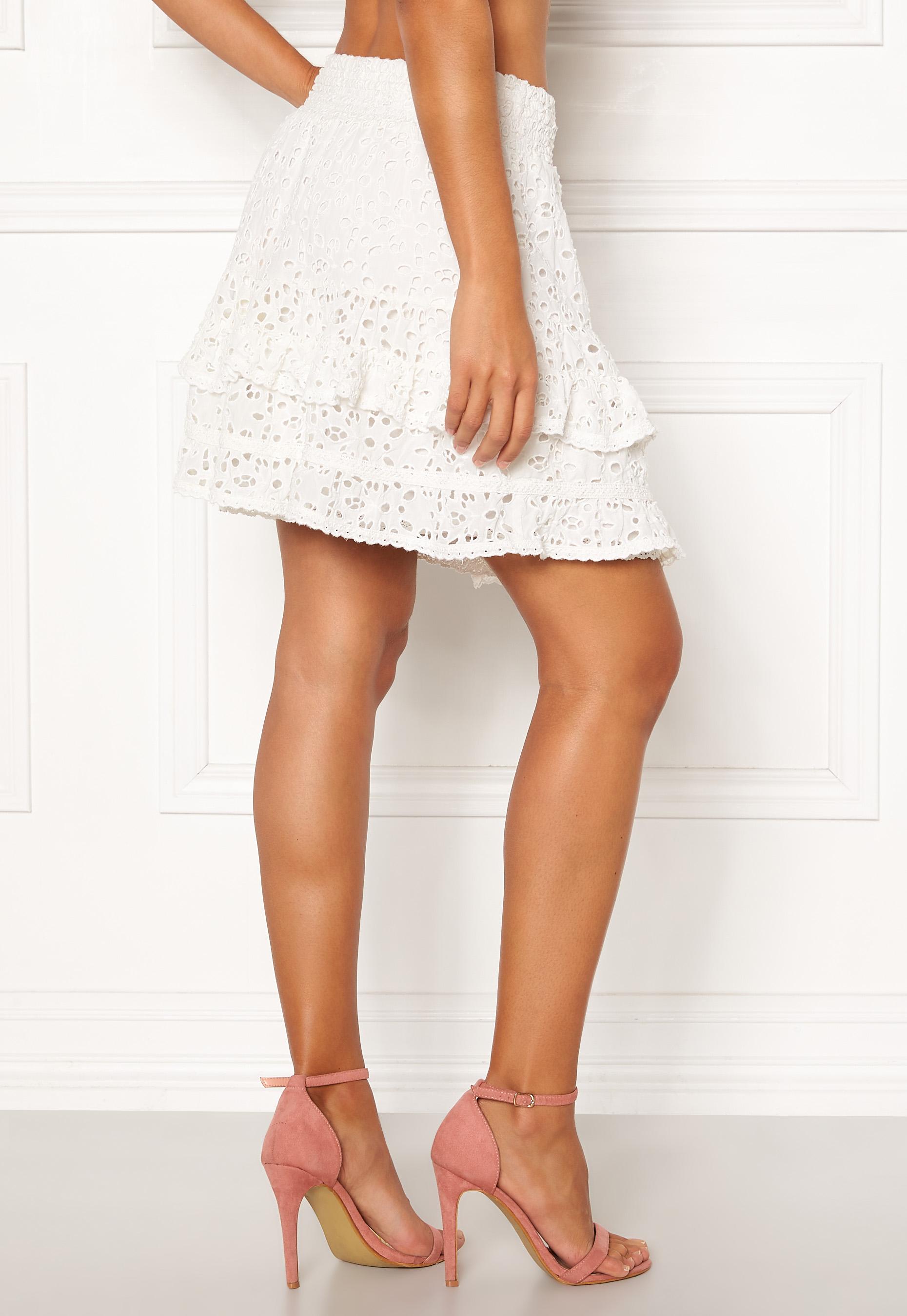 Odd Molly Swag Blossom Skirt Light Chalk Bubbleroom