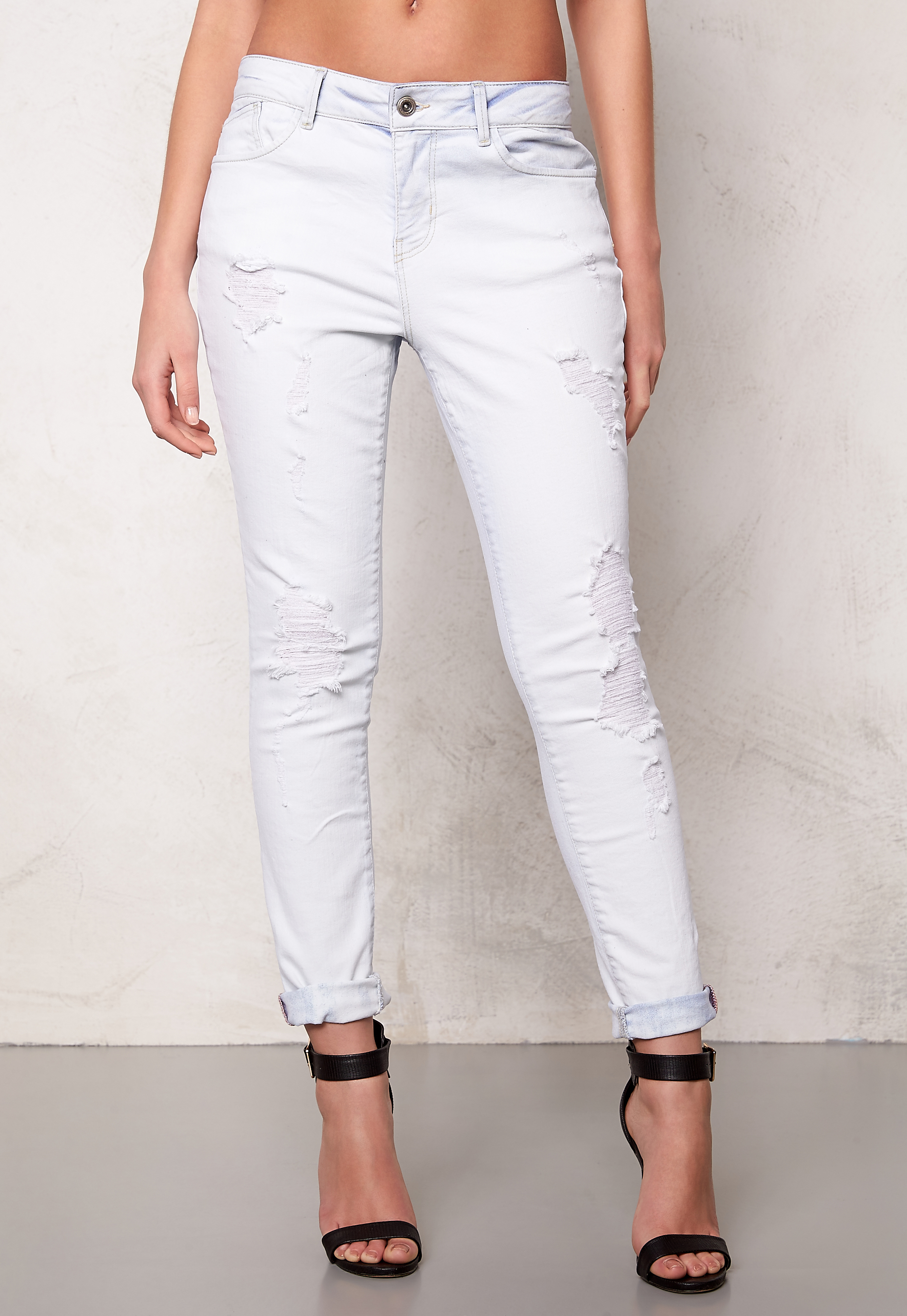 ONLY Lima boyfriend jeans White - Bubbleroom