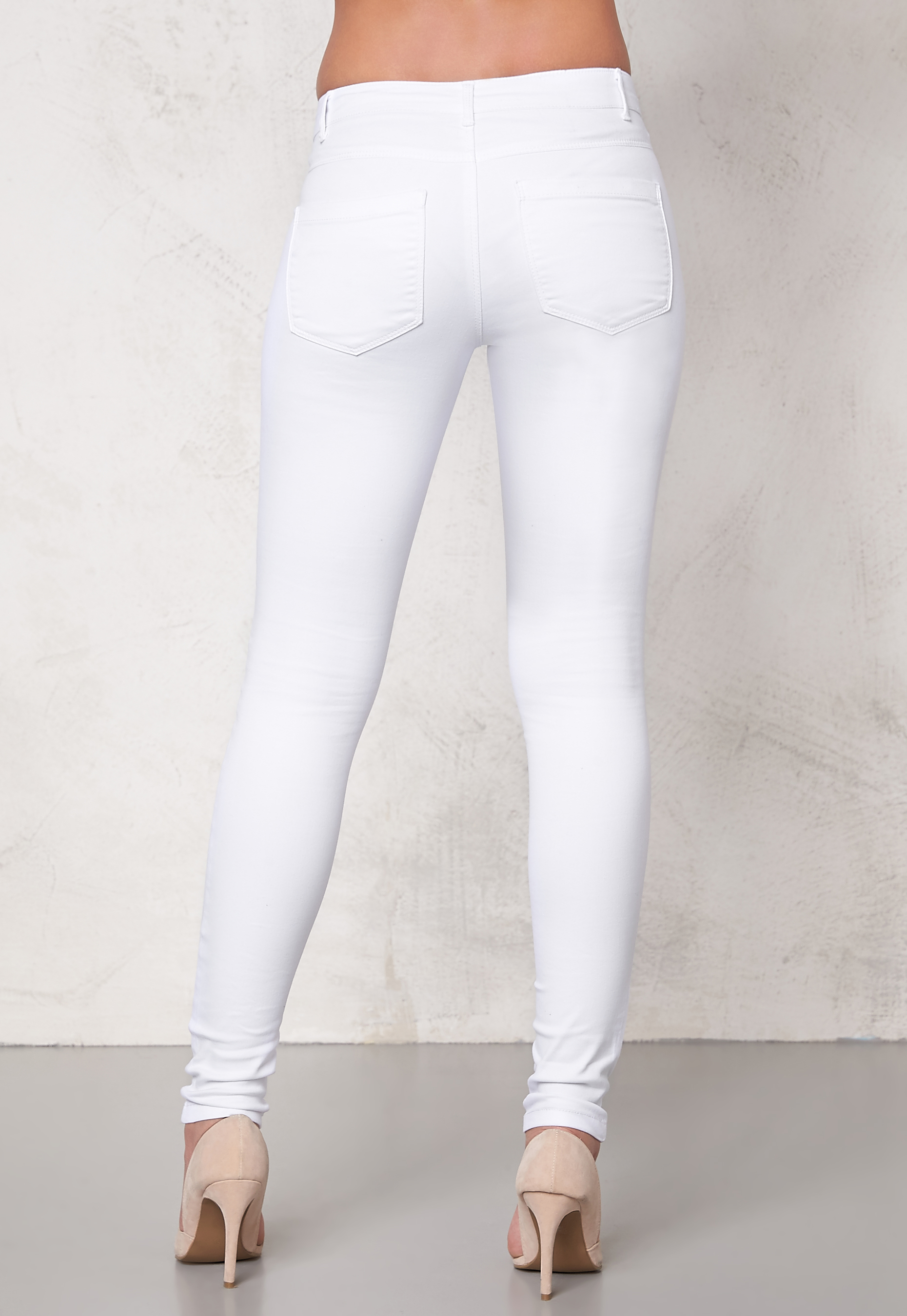 ONLY Royal skinny zip jeans White - Bubbleroom