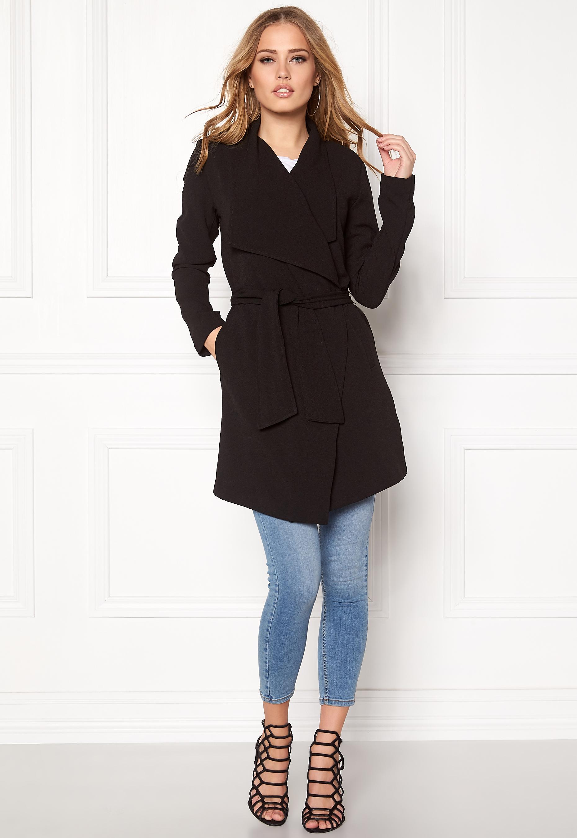 ONLY Runa Spring Coat Black - Bubbleroom