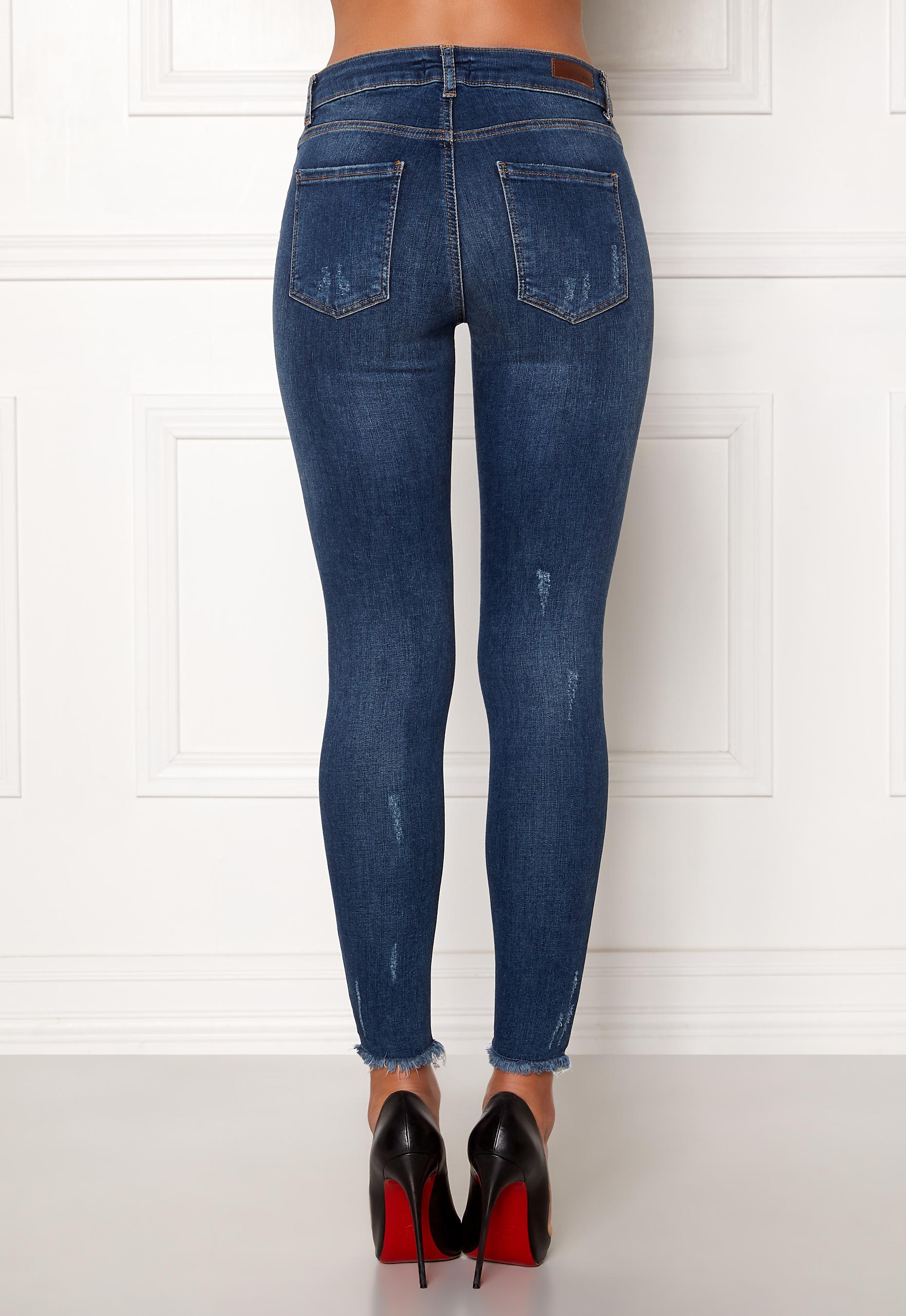 Pieces Five Delly MW B187 Jeans Medium Blue Denim - Bubbleroom 193bba5d2054c