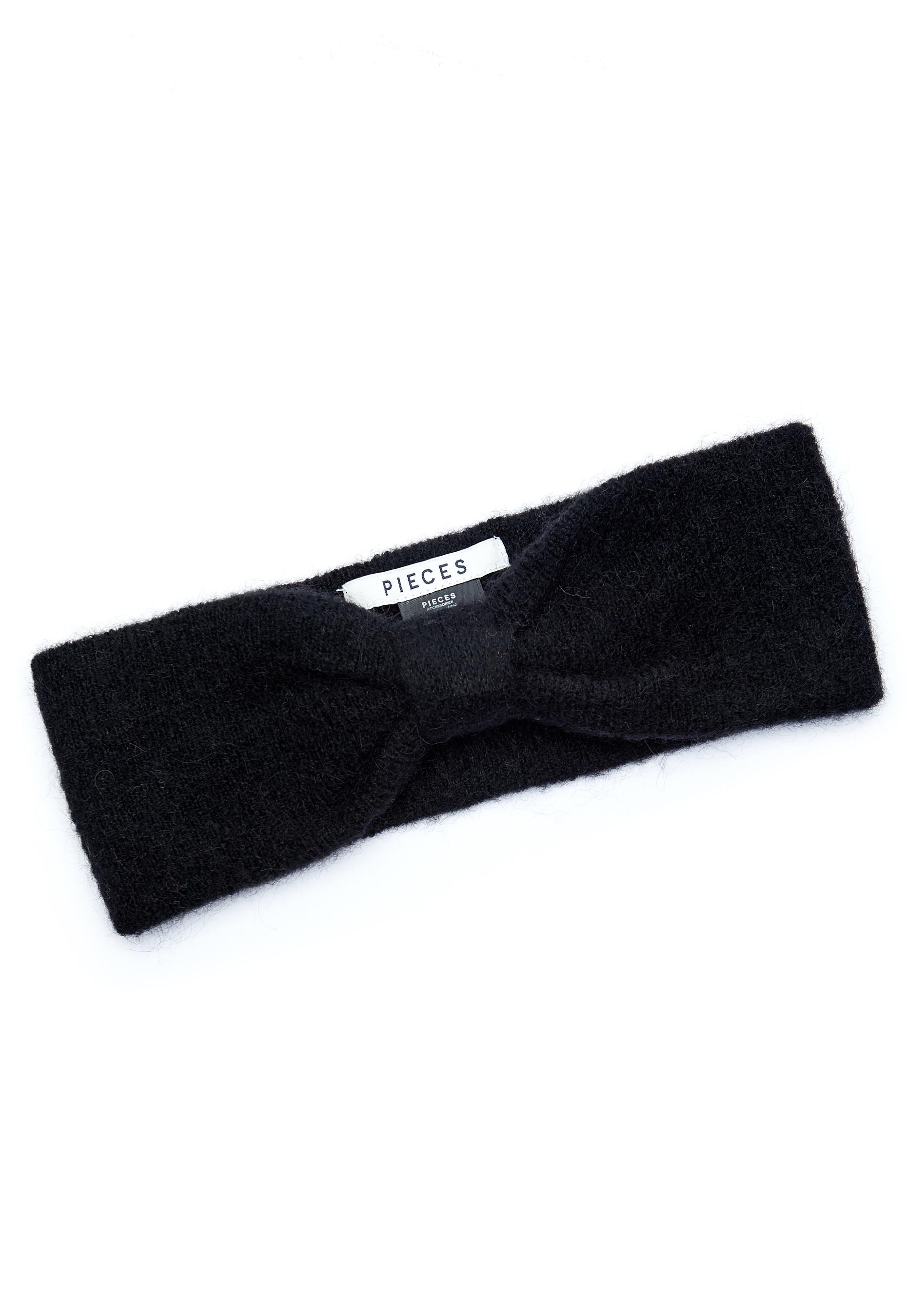 Pieces Josefine Wool Headband Black - Bubbleroom cd19b4143a952