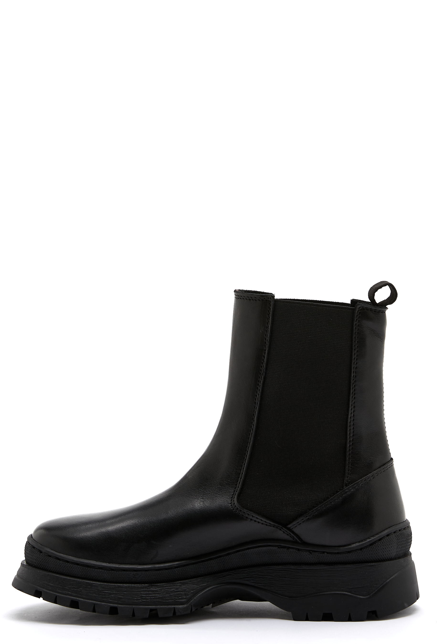 Pieces Selione Leather Boot Black Bubbleroom
