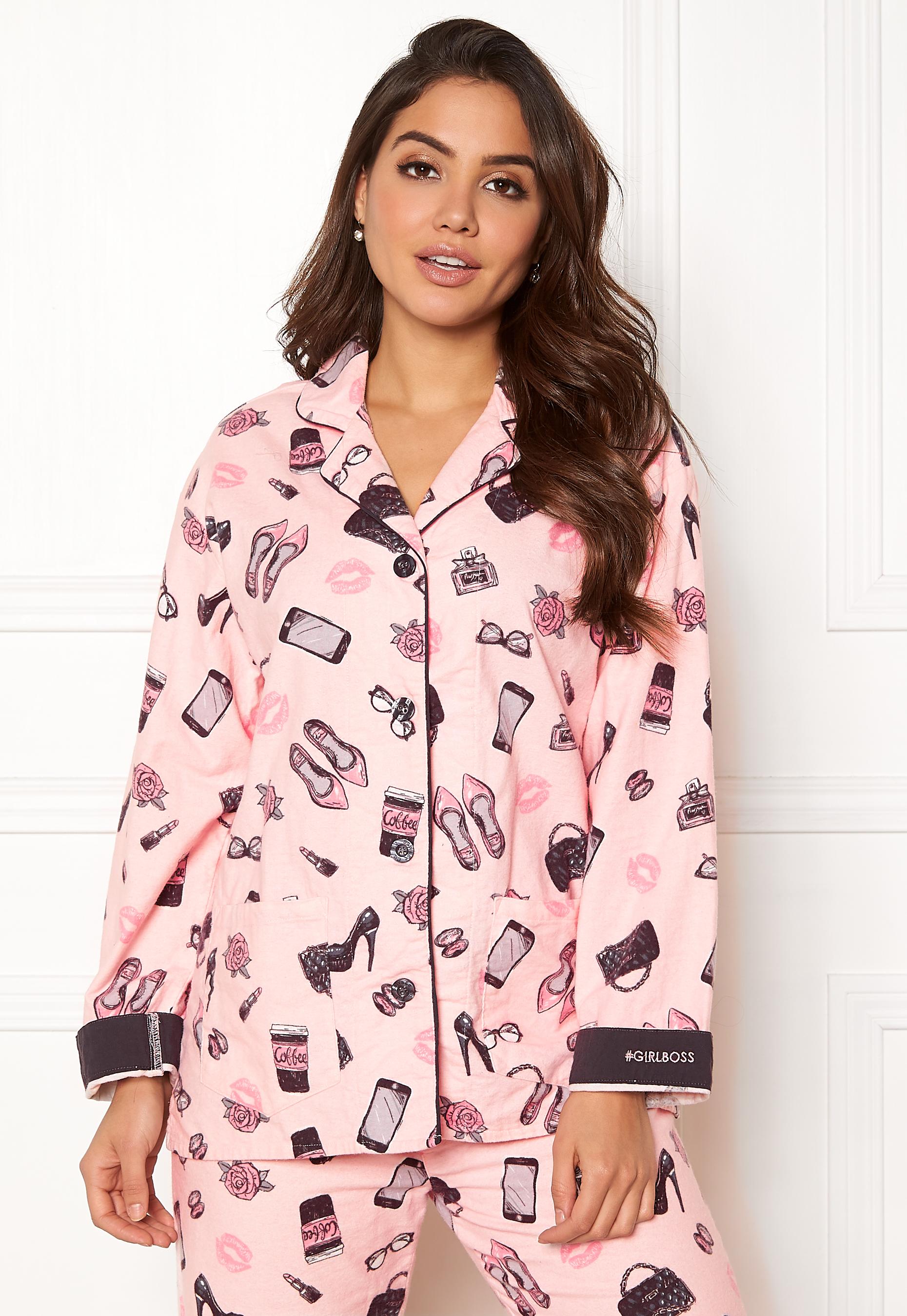 7e9c01fe PJ. Salvage PJ Flannel Set Pink - Bubbleroom