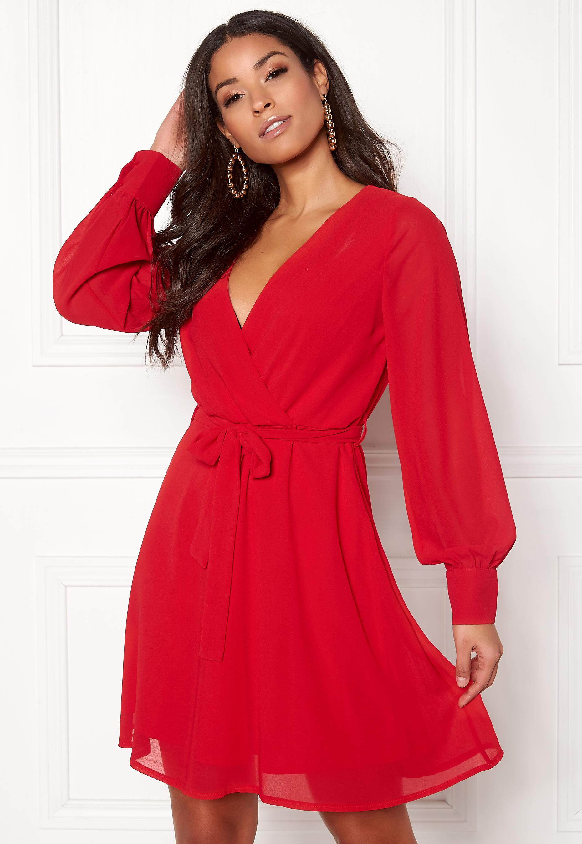 Sisters Point Gerdo Dress 500 Red - Bubbleroom 5e6f1e1948d9d