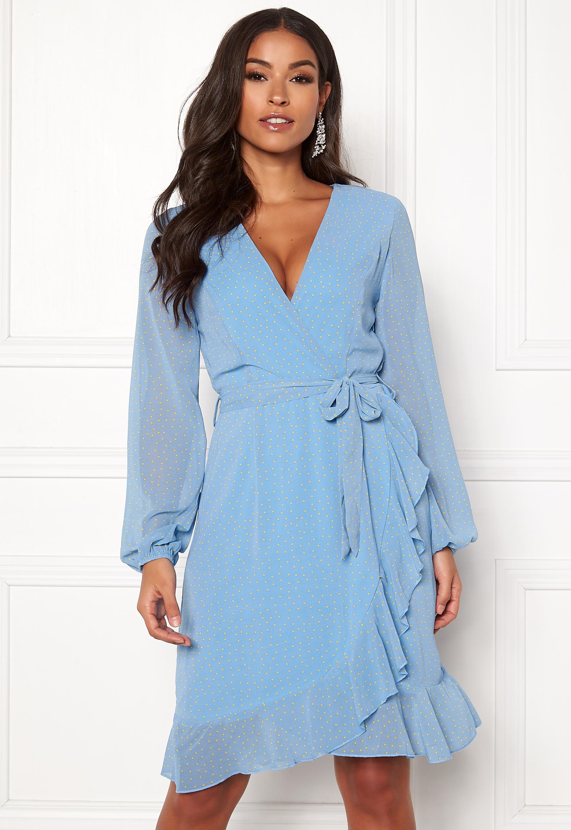Sisters Point Greto Dress 401 BlueLemon Bubbleroom