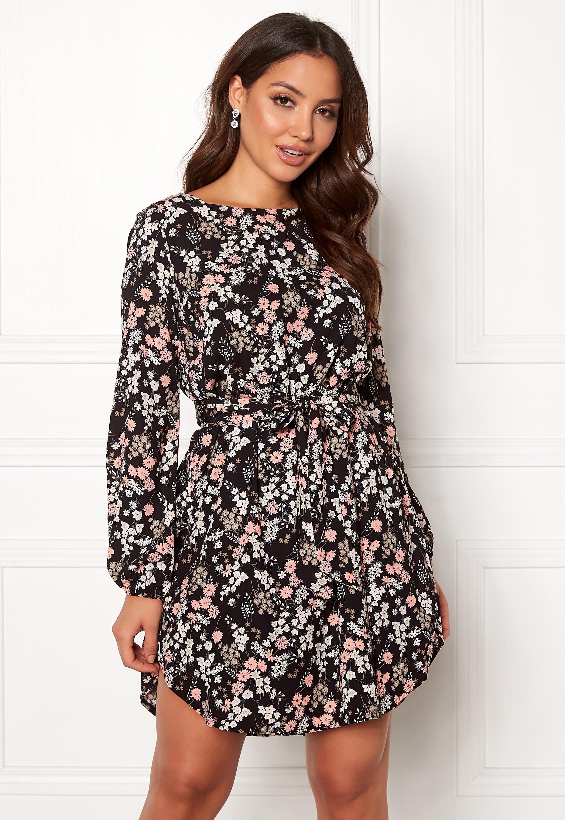Sisters Point Lucy Dress 001 Black Flower - Bubbleroom 4b71c282040ee