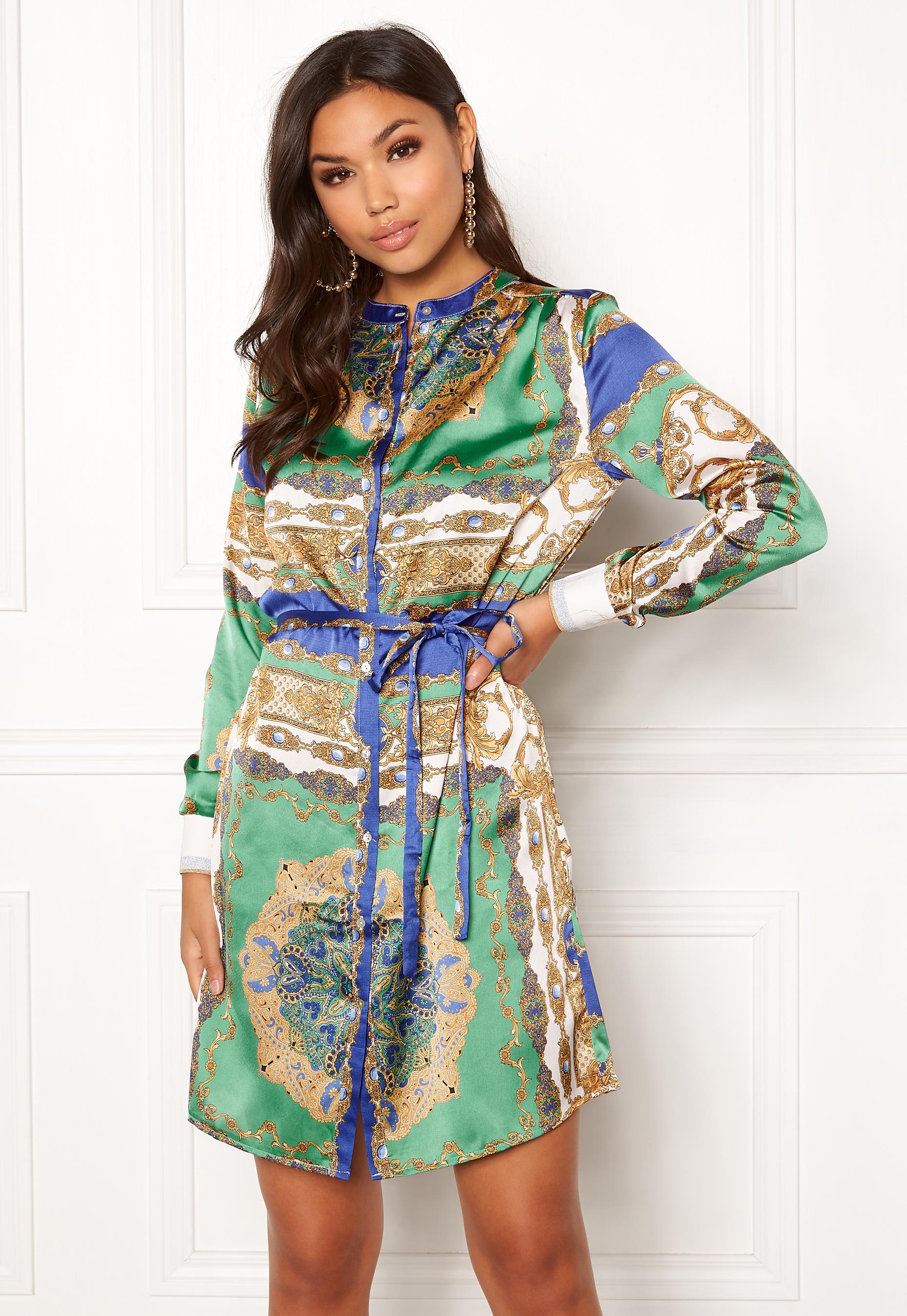 Sisters Point Valsi Dress 820 Scarf print - Bubbleroom fcdbc82932ade