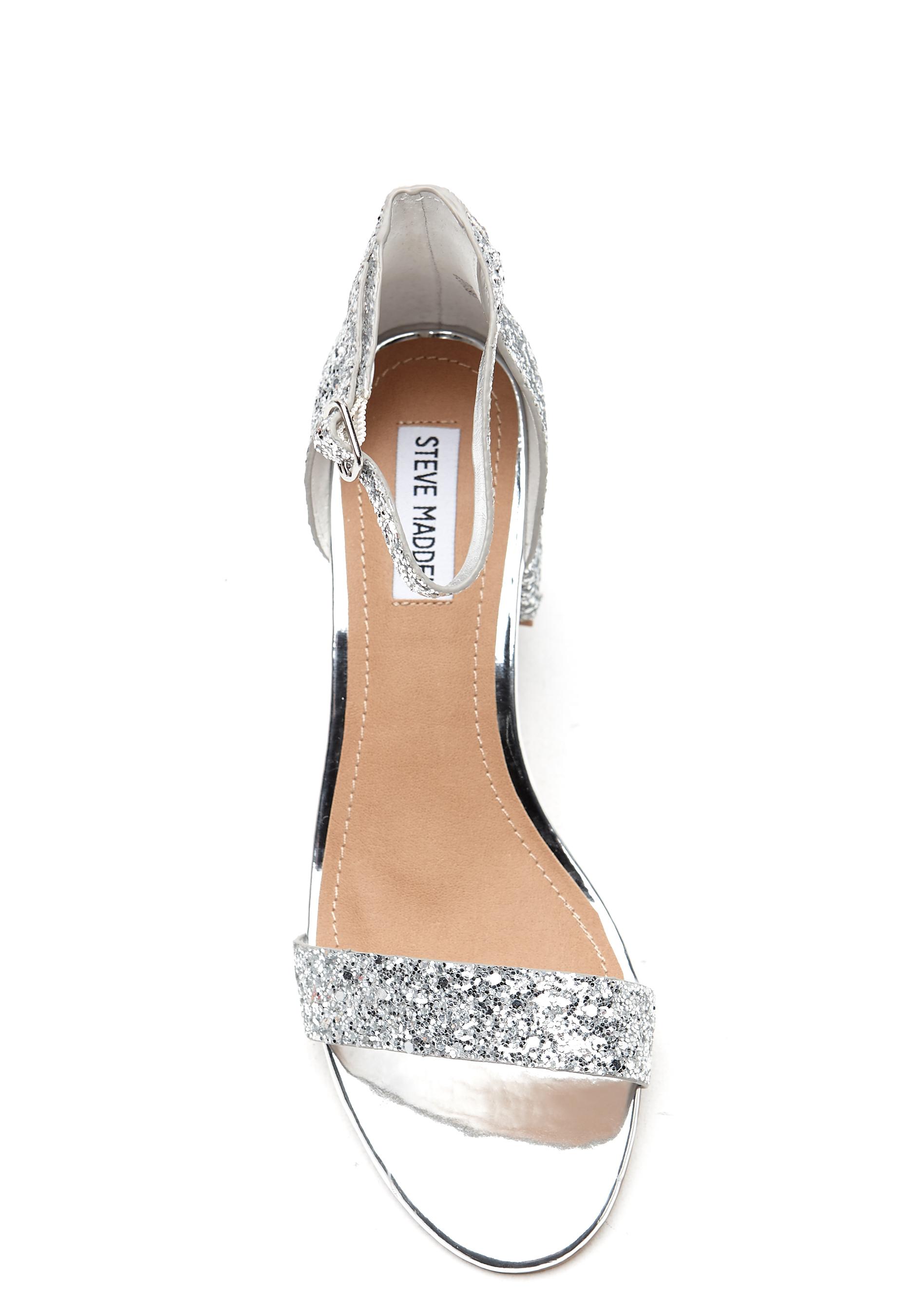 Steve Madden Irenee Sandal Silver Glitter Bubbleroom