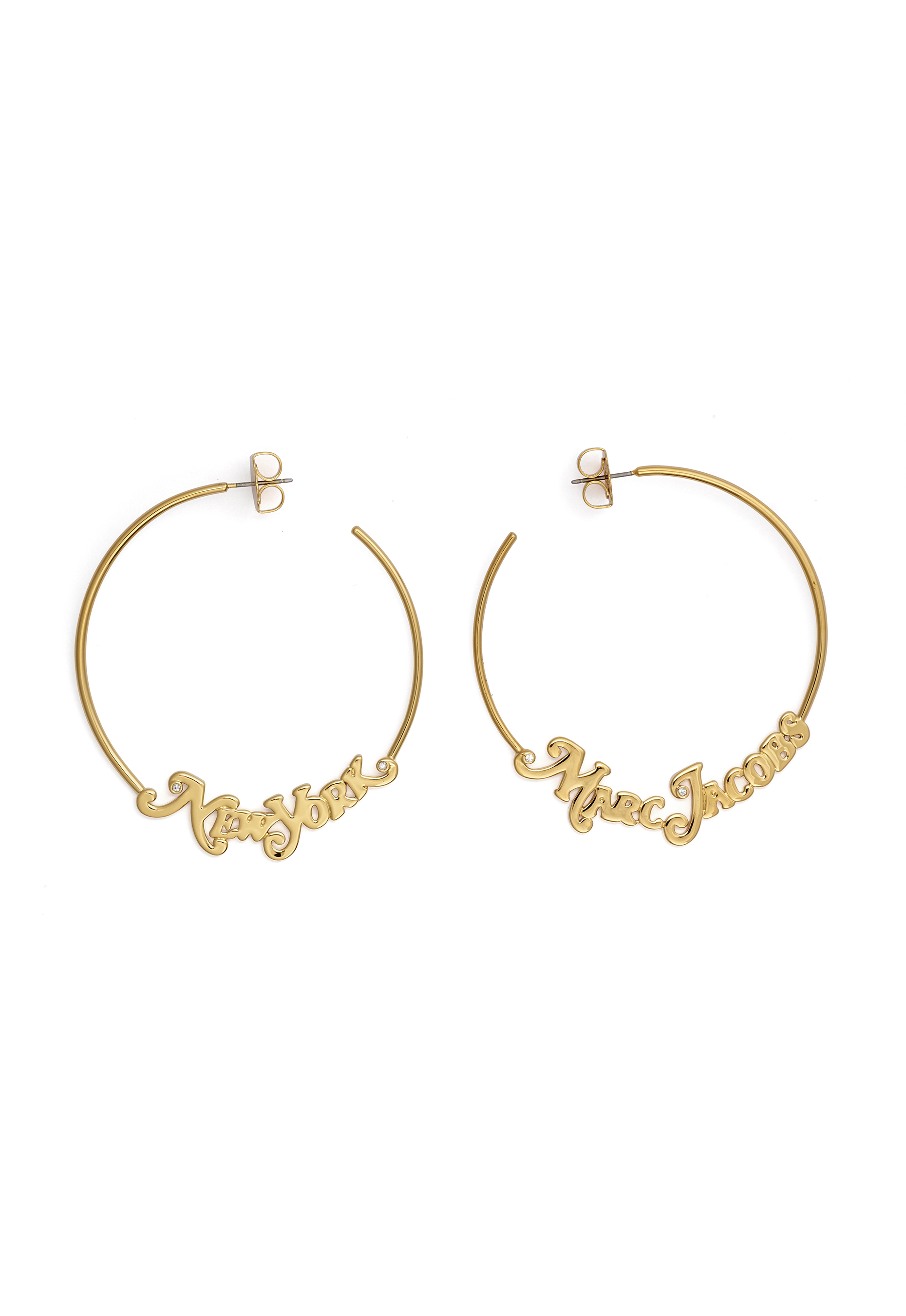 the marc jacobs the logo hoops small 710 gold 1
