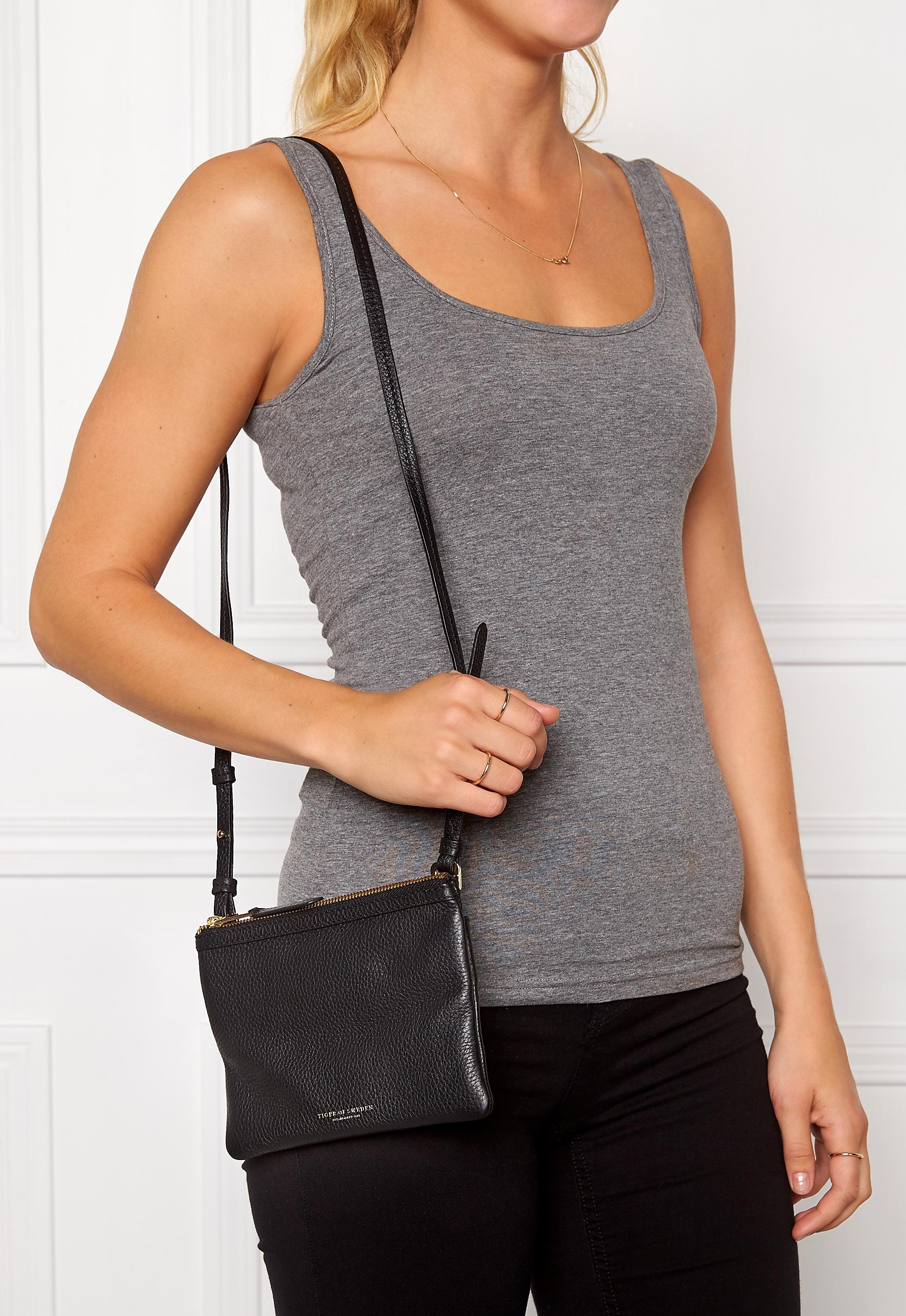 TIGER OF SWEDEN Ortisei B Leather Bag 050 Black Bubbleroom