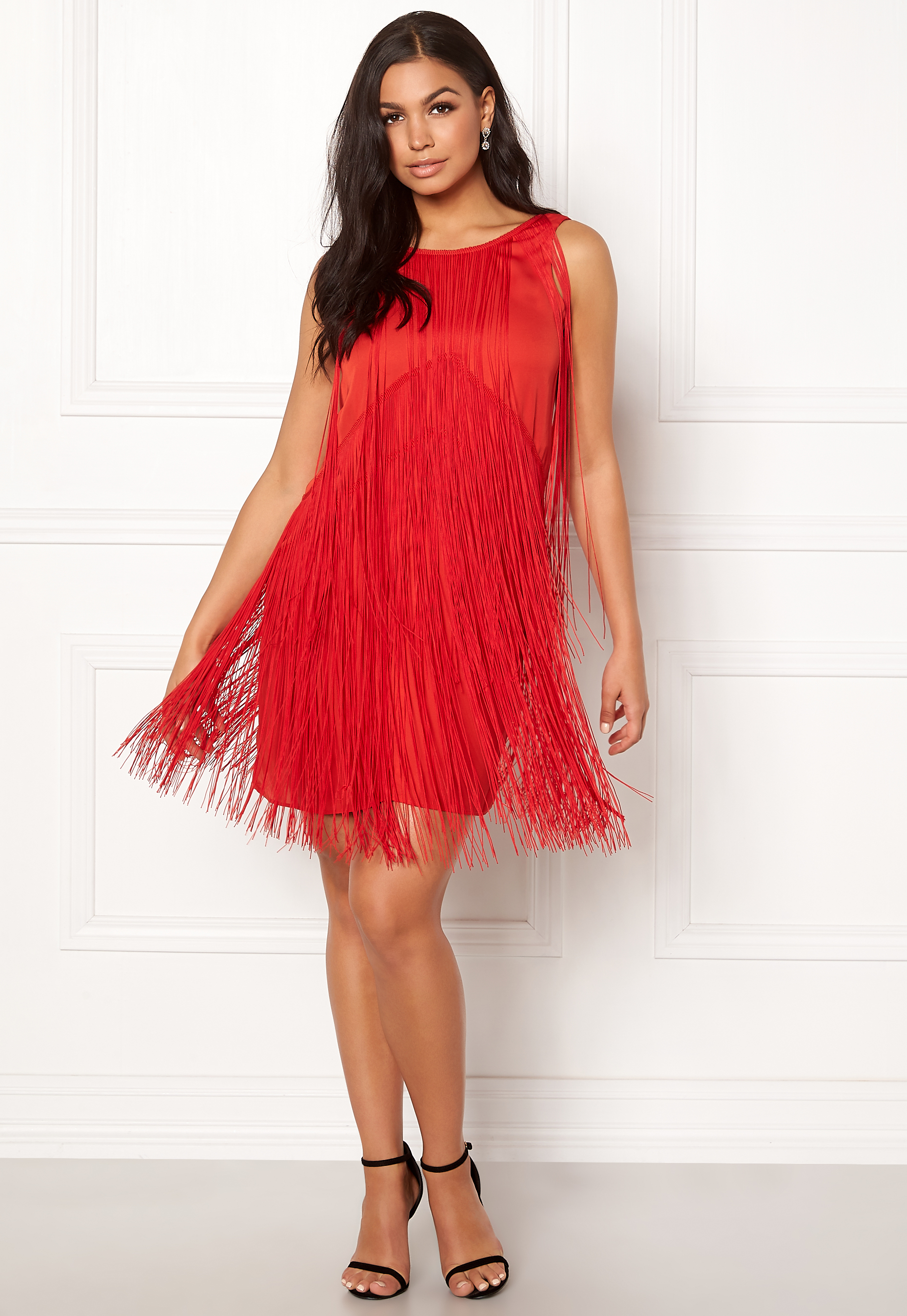 Twist & Tango Clair Fringe Dress Raspberry Bubbleroom