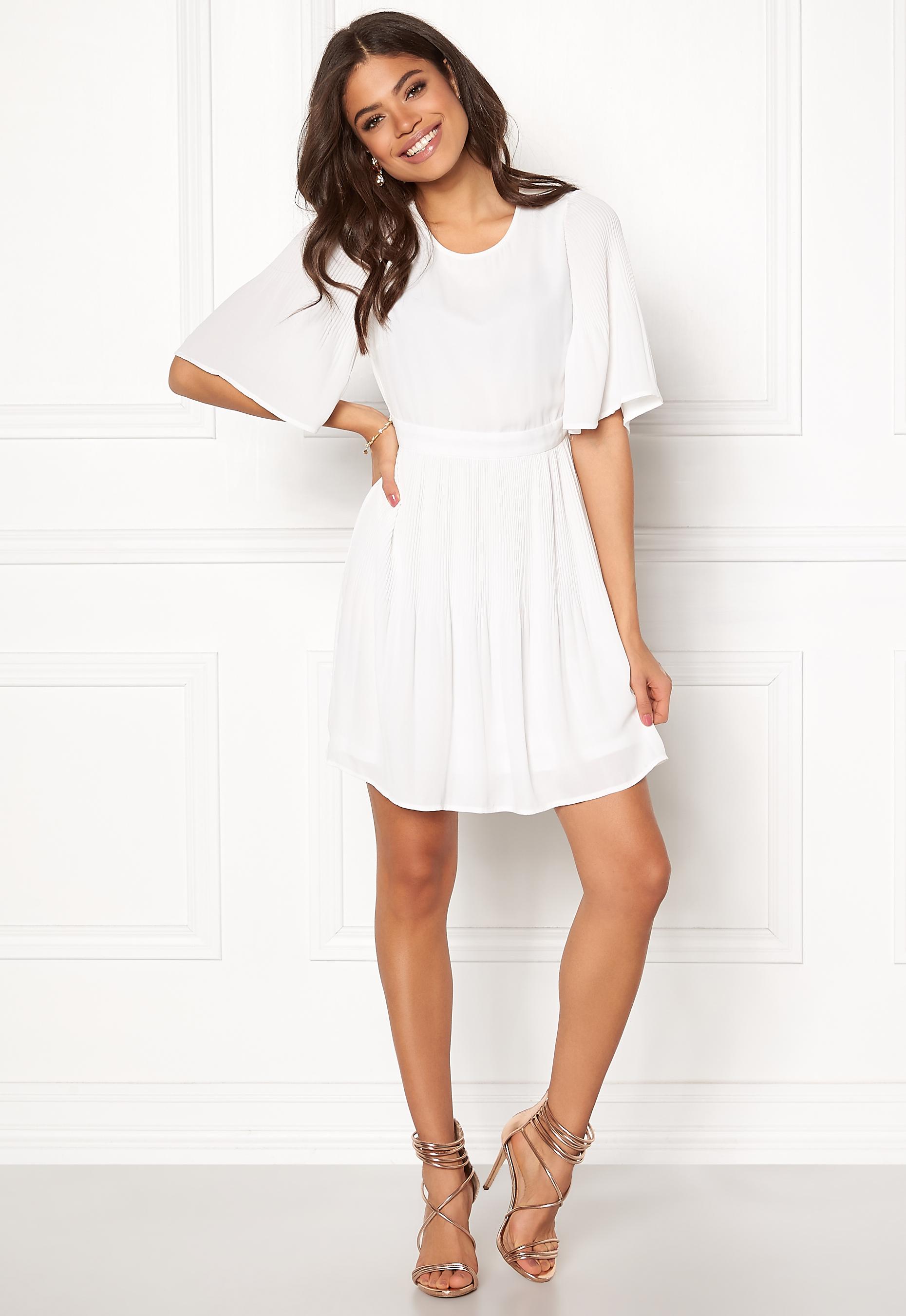 62416e674fc0 VERO MODA Amanda 2/4 Short Dress Snow White - Bubbleroom