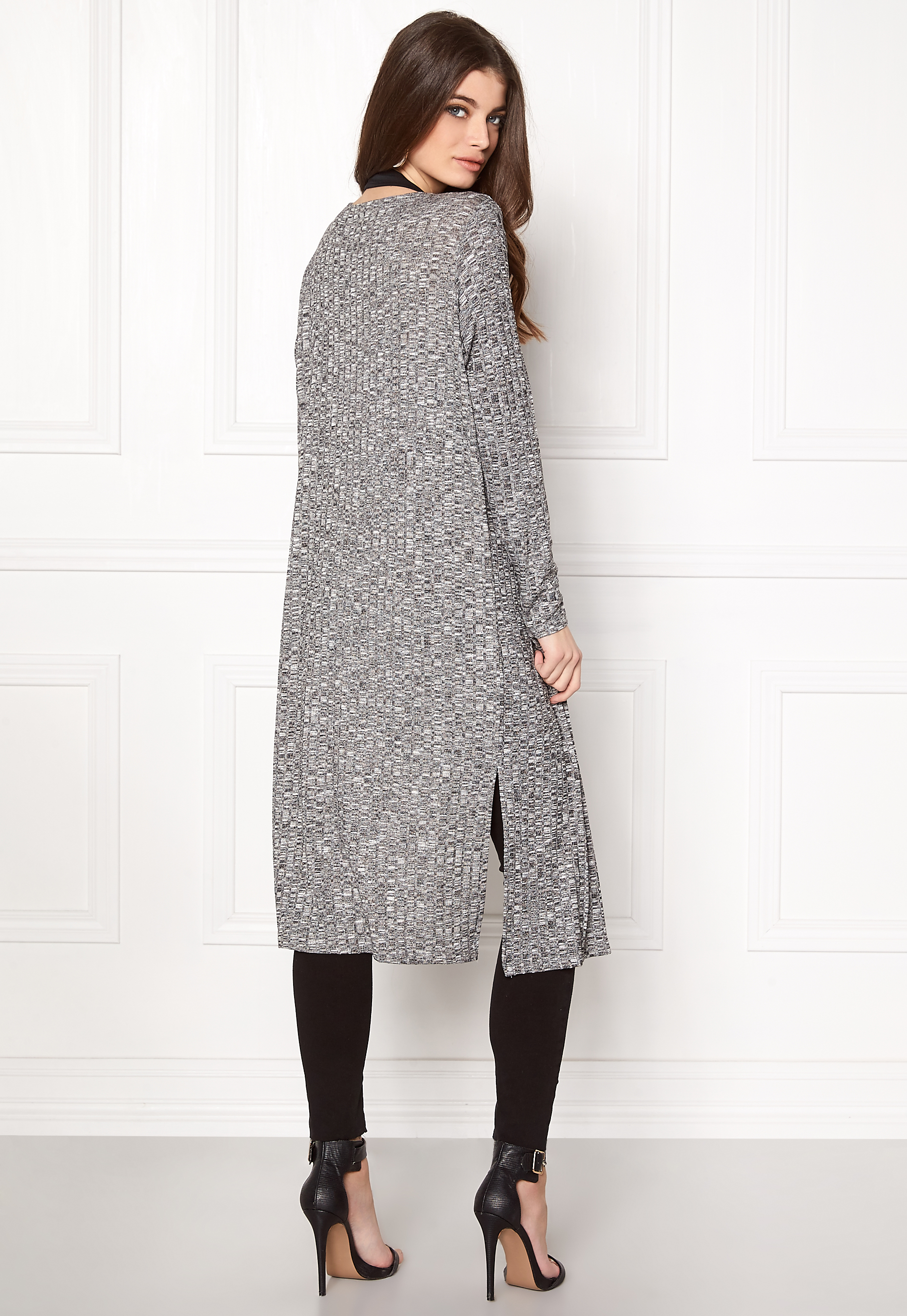 Vero Moda Knitting Yarns : Vero moda nille ls long open knit black beauty bubbleroom