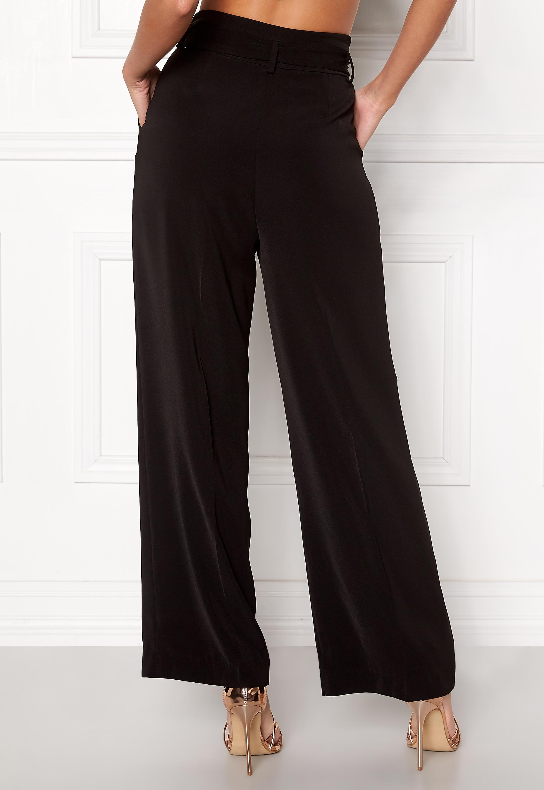 VILA Blamy HW Pant Black - Bubbleroom 18be3fd9a0378