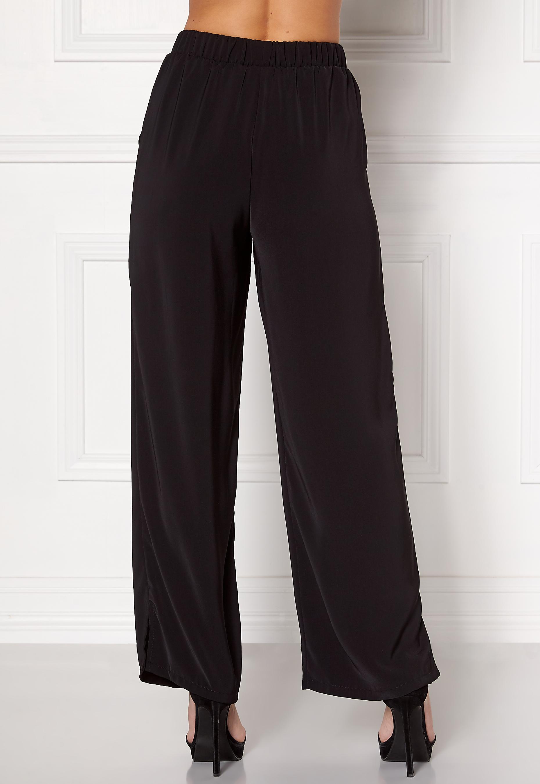 VILA Boarders Wide Pant Black - Bubbleroom 5c3fdb04be9c0