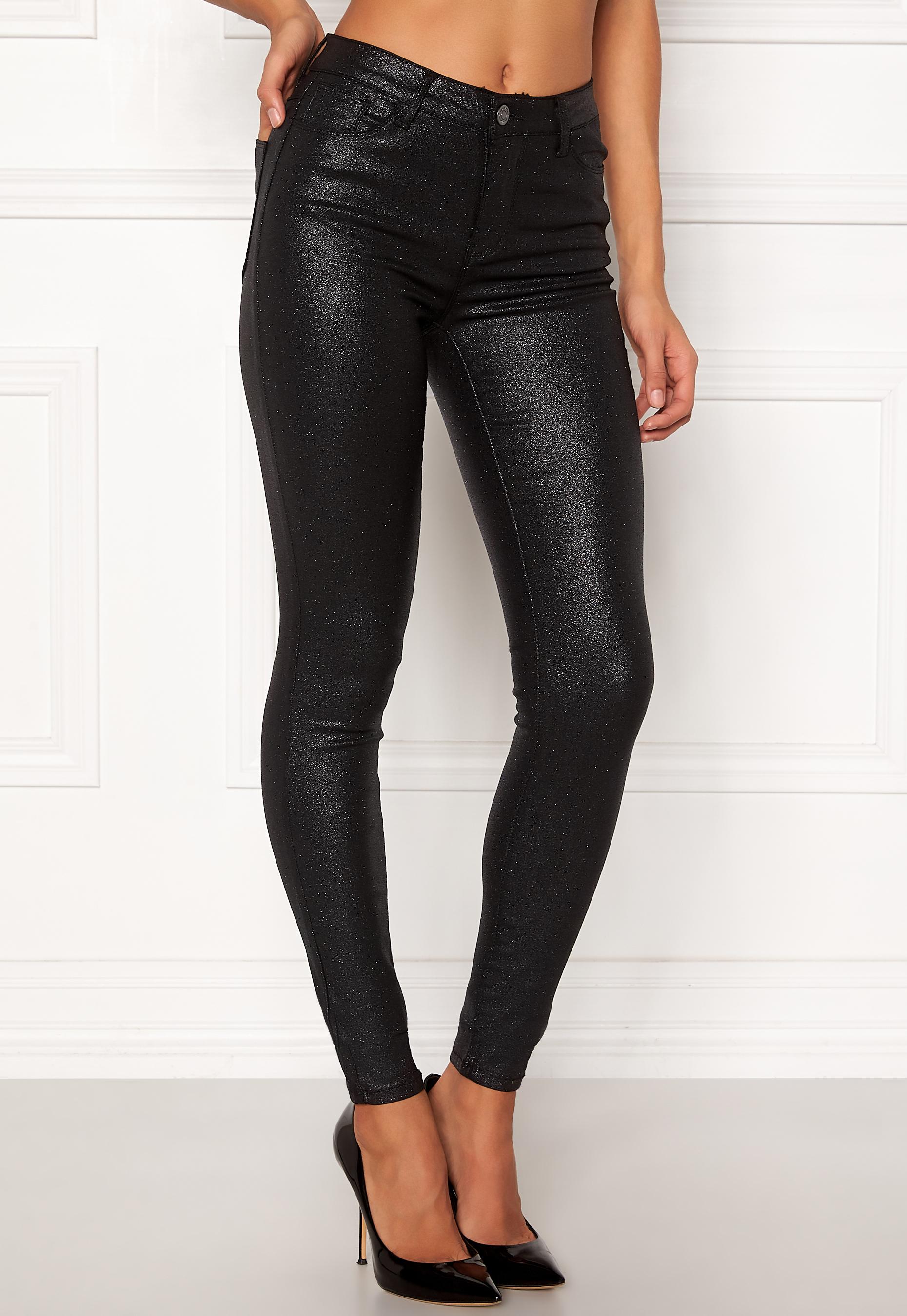 VILA Commit RW Glitter Jeans Black - Bubbleroom e039c1c4d1c84