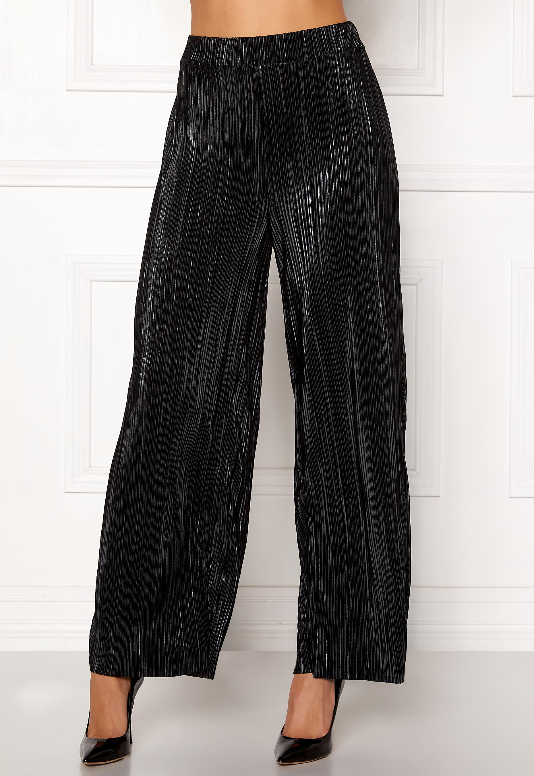 VILA Frances Pant Black - Bubbleroom d95e2e29e0c09