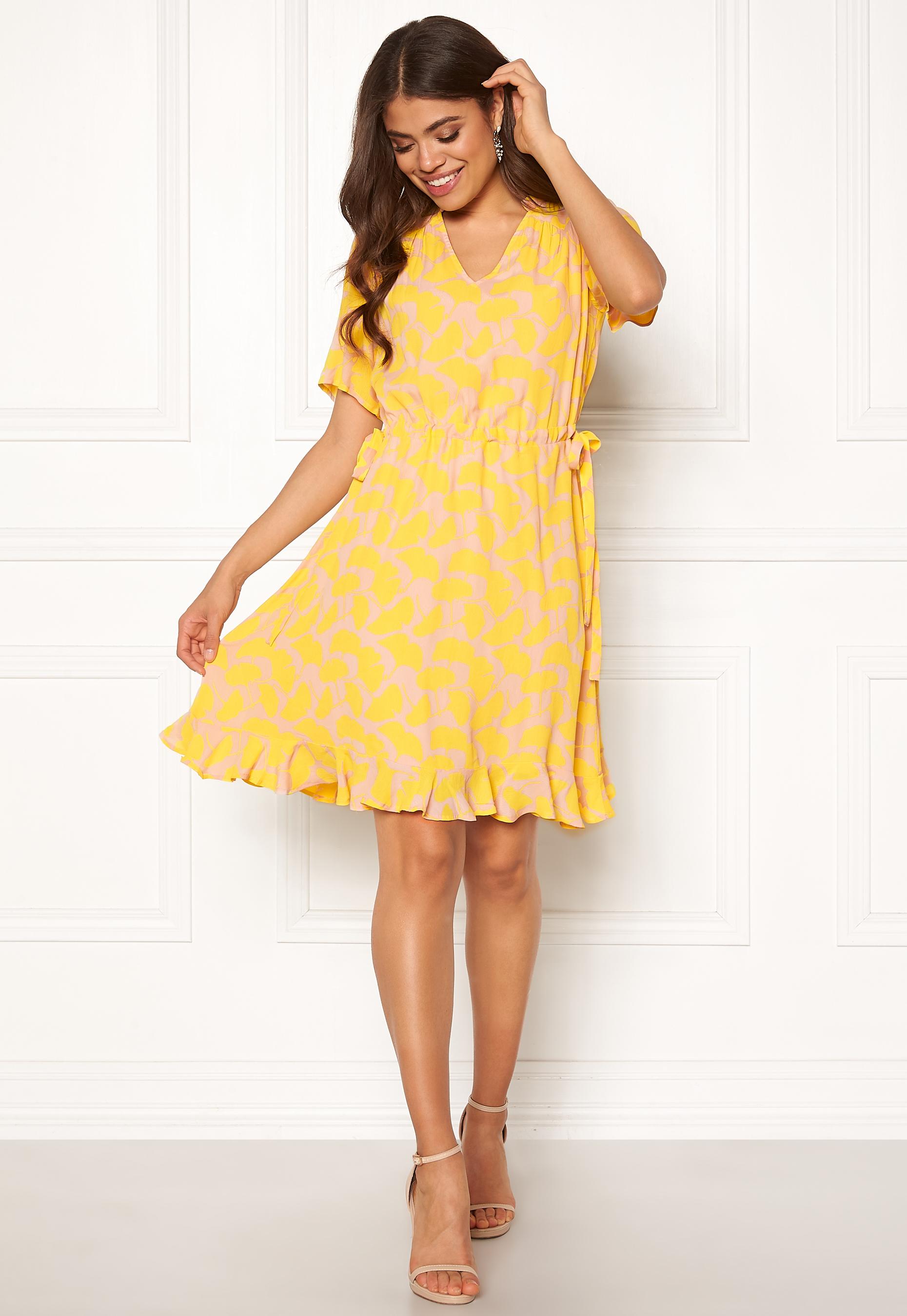 Y.A.S Sunni SS Mini Dress Cameo Rose Bubbleroom