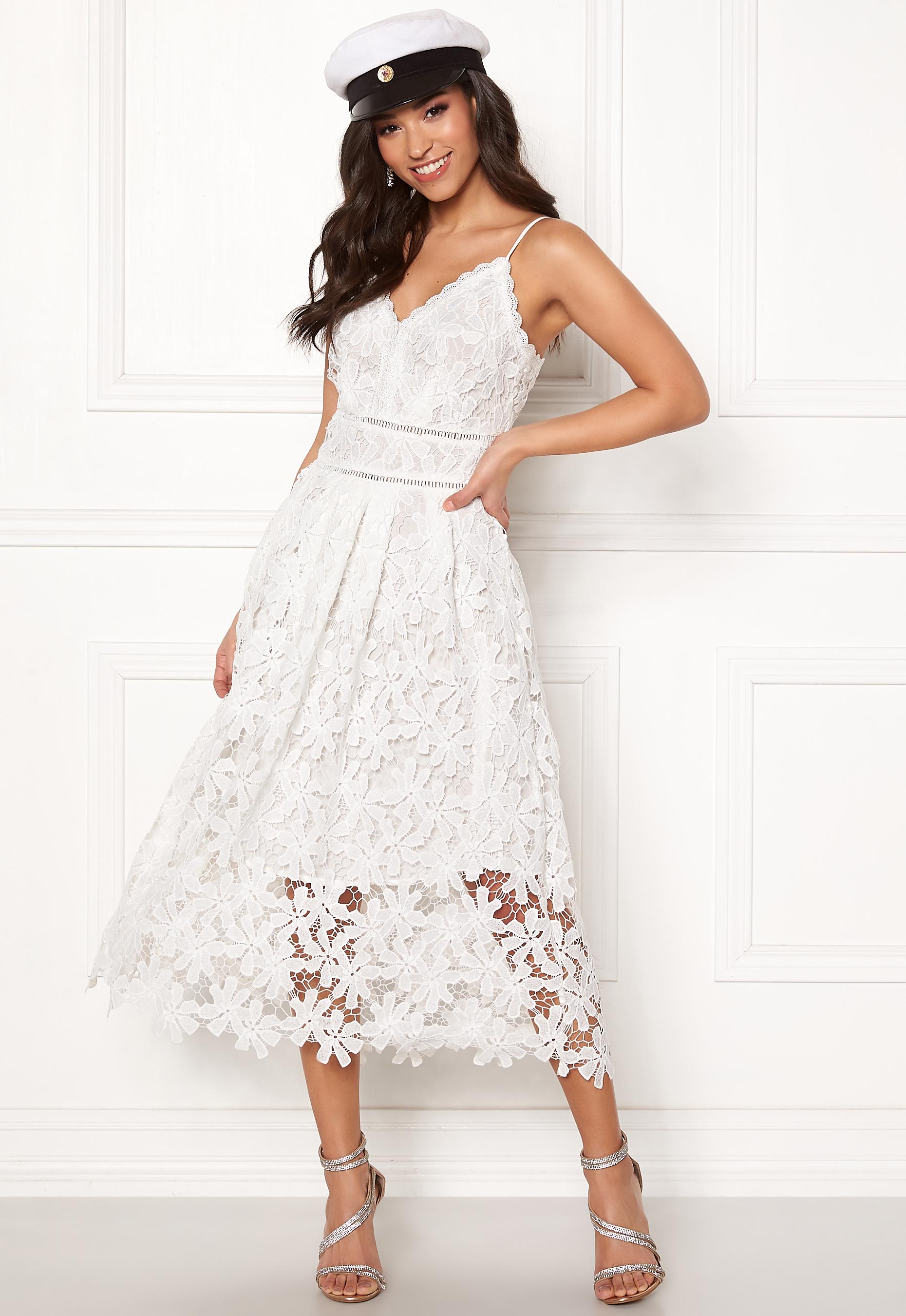 a10cb287c11b Y.A.S Viola S/L Dress Star White - Bubbleroom