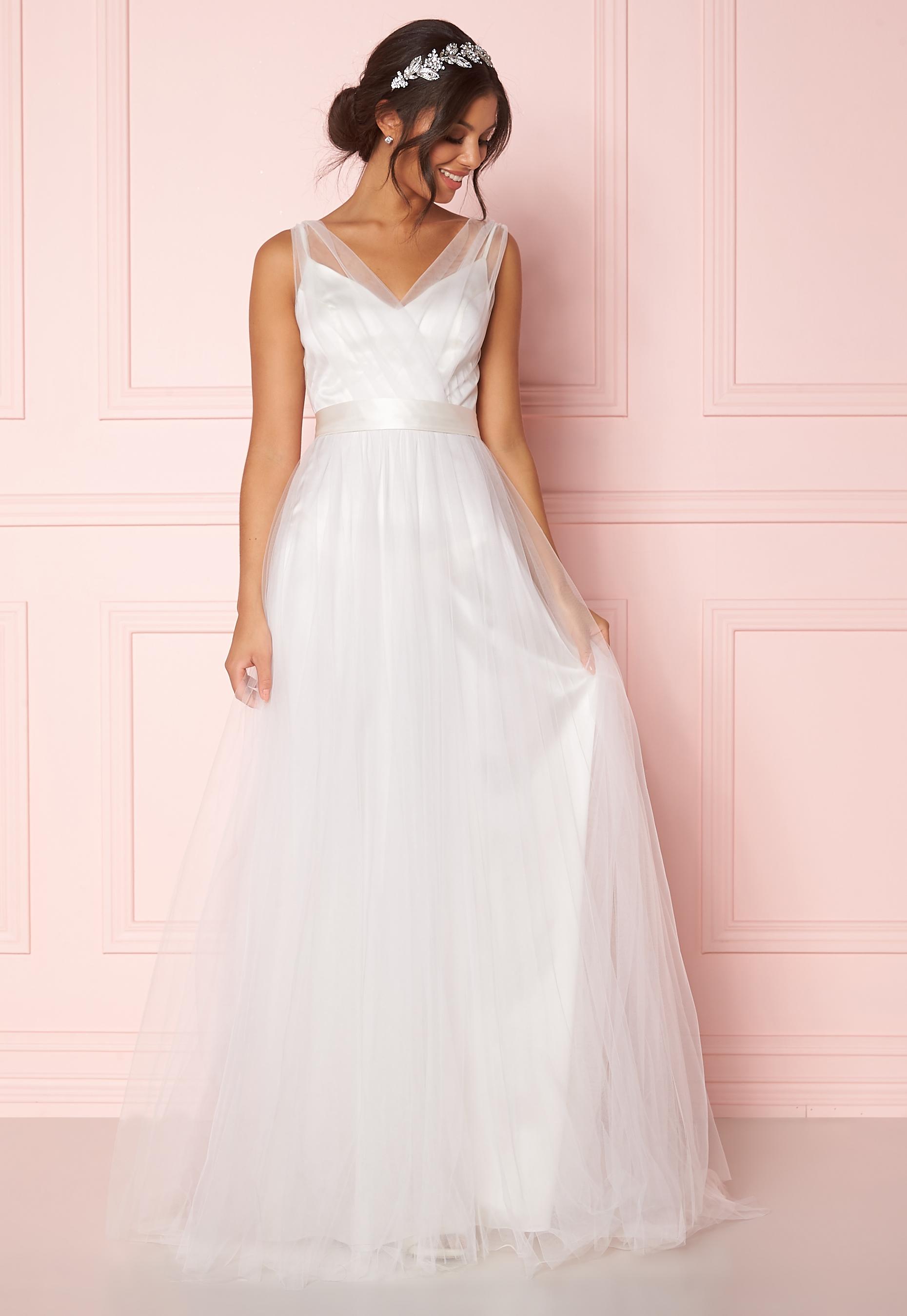 b316f0c85e99 Zetterberg Couture Nadja Long Bridal Dress Ivory - Bubbleroom