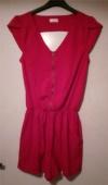 Röd byxdress jumpsuit playsuit jump suit byx dress